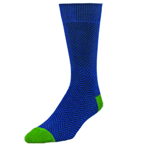 Men's Denim Dylan Herringbone Crew Socks