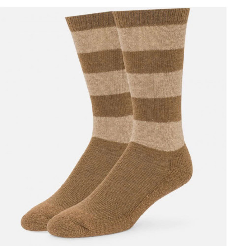 Men's Camel Nicolo Striped Crew Socks