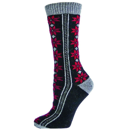 Women's Gray Neve Crew Socks