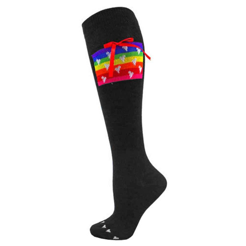 Women's Rainbow Christmas Gift Knee High Socks