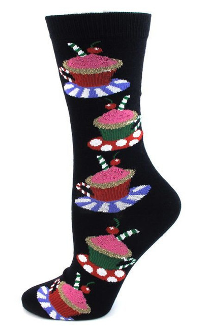 Women's Black Hot Chocolate Socks