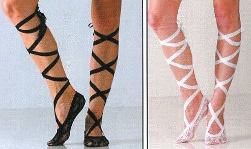 Lace Socks with Ribbons / Women's