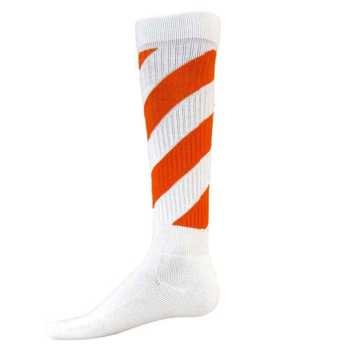 Tornado Knee High Sports Socks - White & Orange