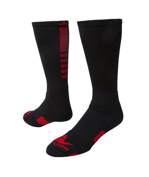Legend 2.0 Crew Sports Socks - Black & Red