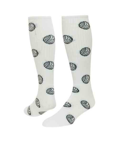 Volleyball Knee High Sports Socks - White