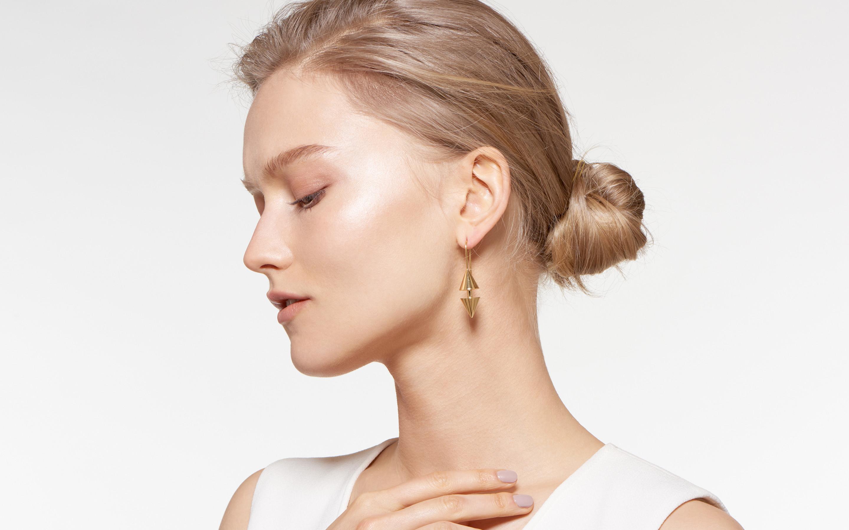 Double Cone Earring Short