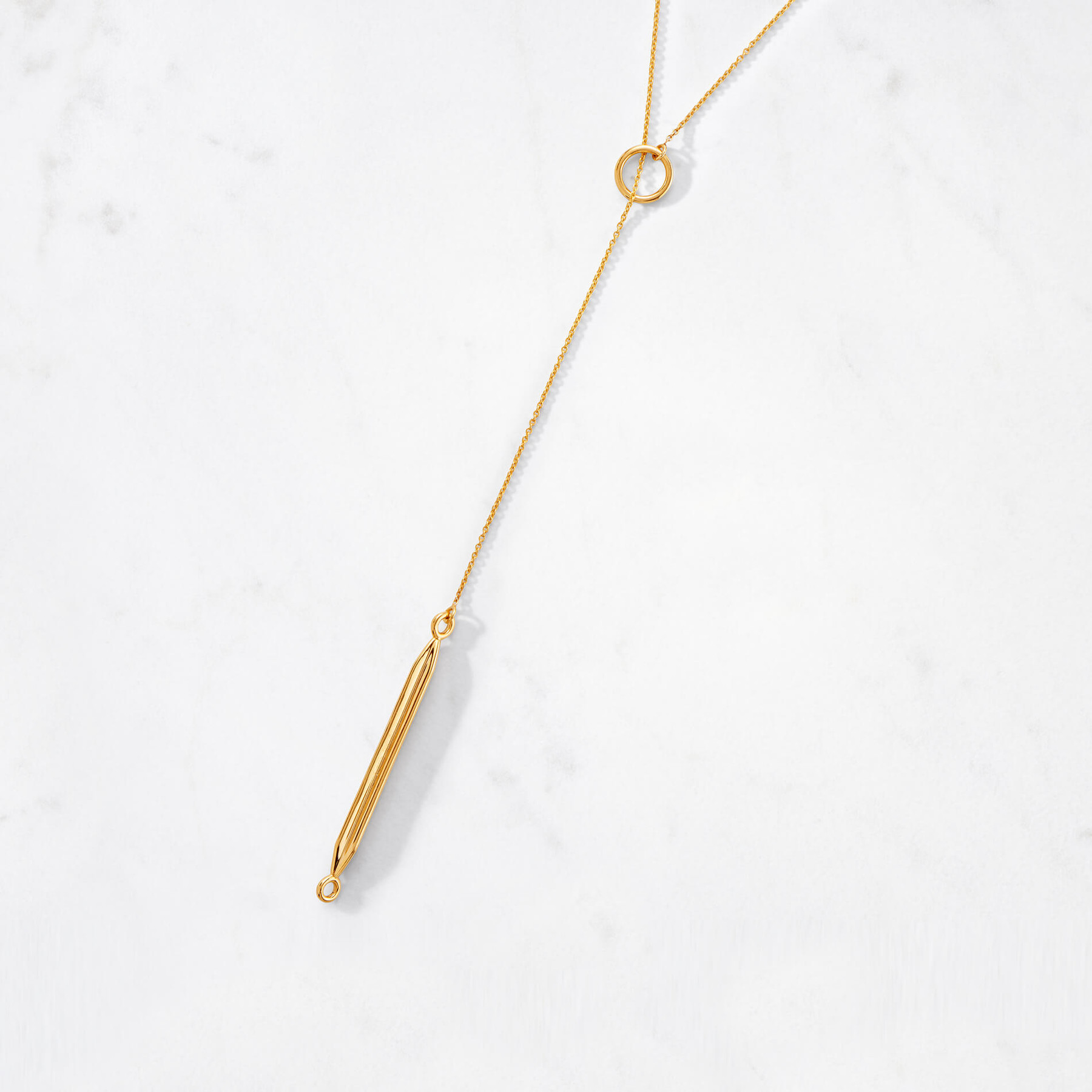 Obelisk Lariat Necklace