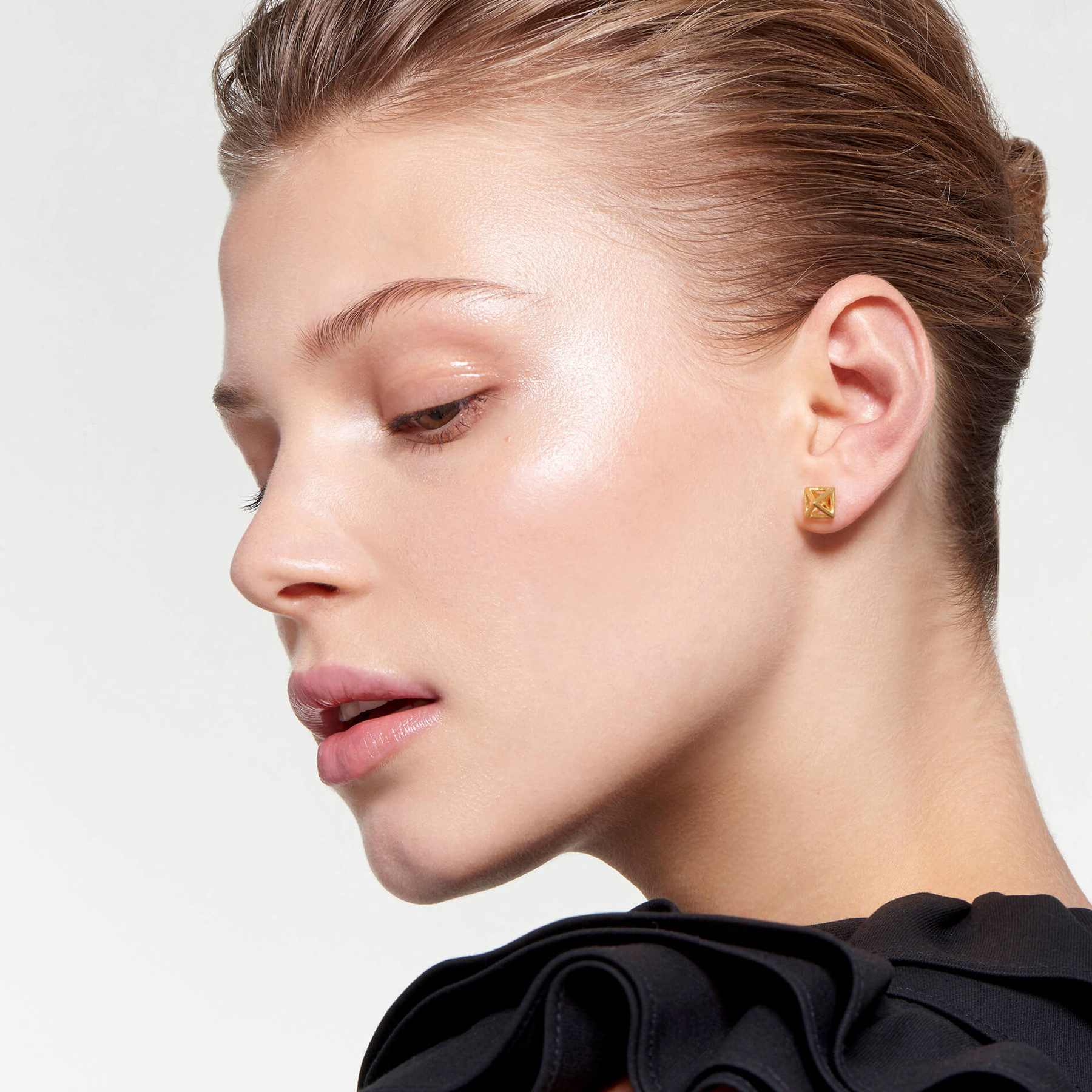 Cage Stud Earring Satin
