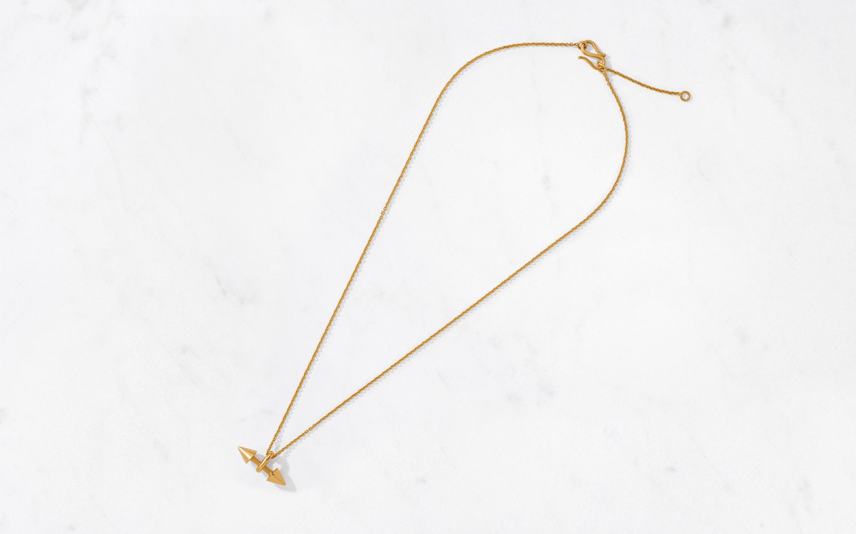 Double Cone Pendant & Chain