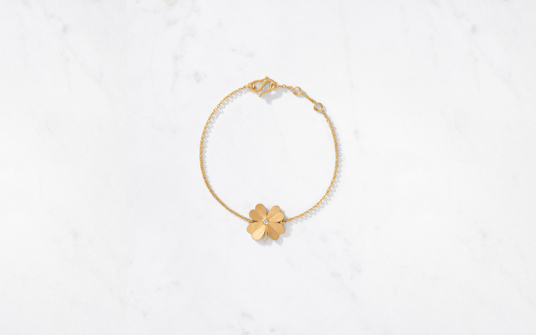 4 Leaf Clover Bracelet Satin