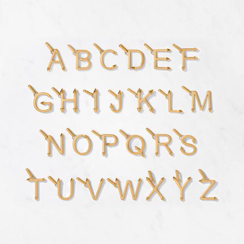 22 karat gold alphabet pendant for men and women