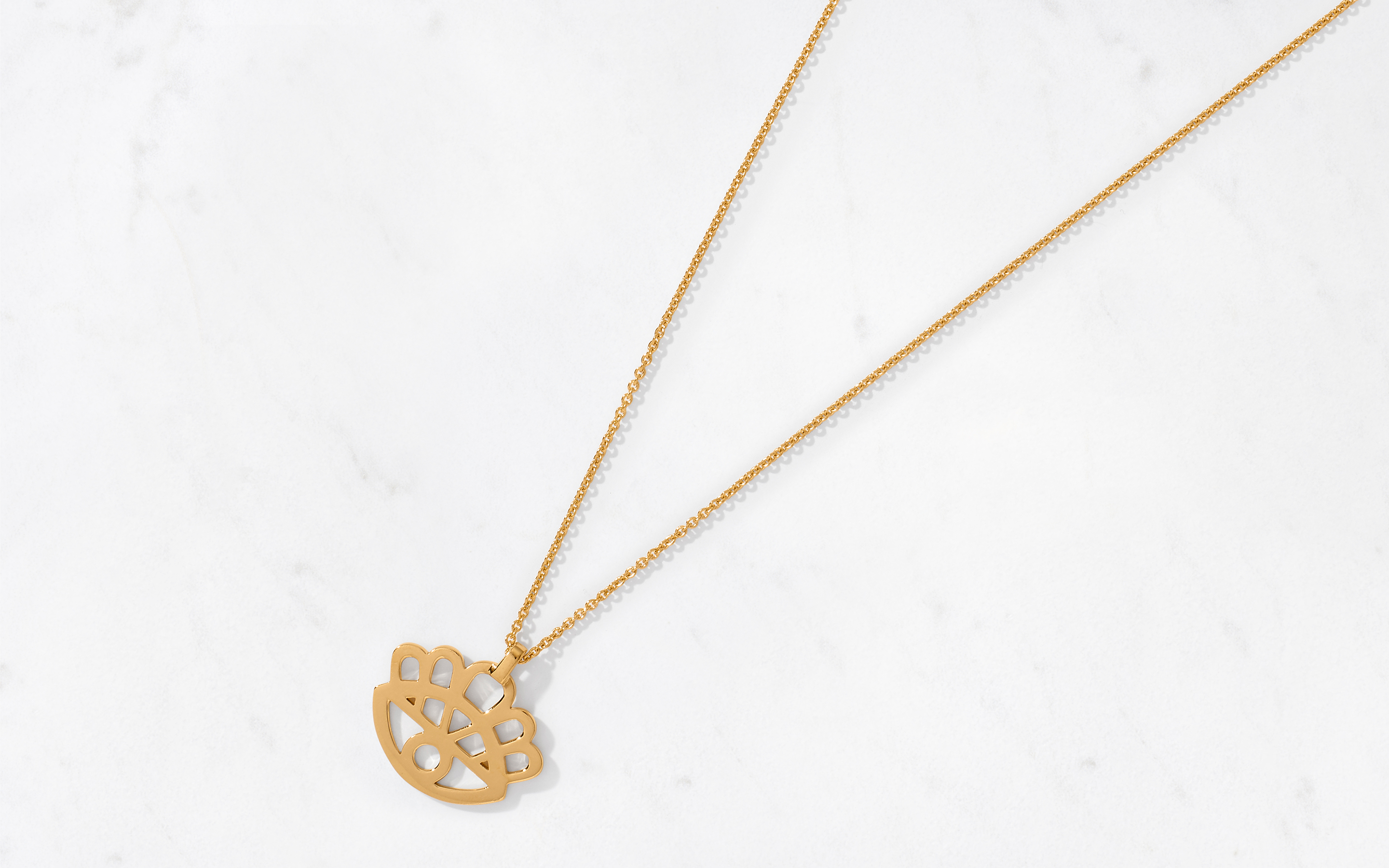 Floral Eye Pendant and Chain
