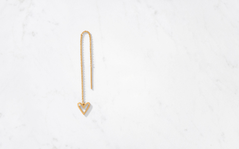 stylish threader earrings with diamonds in 22 karat gold