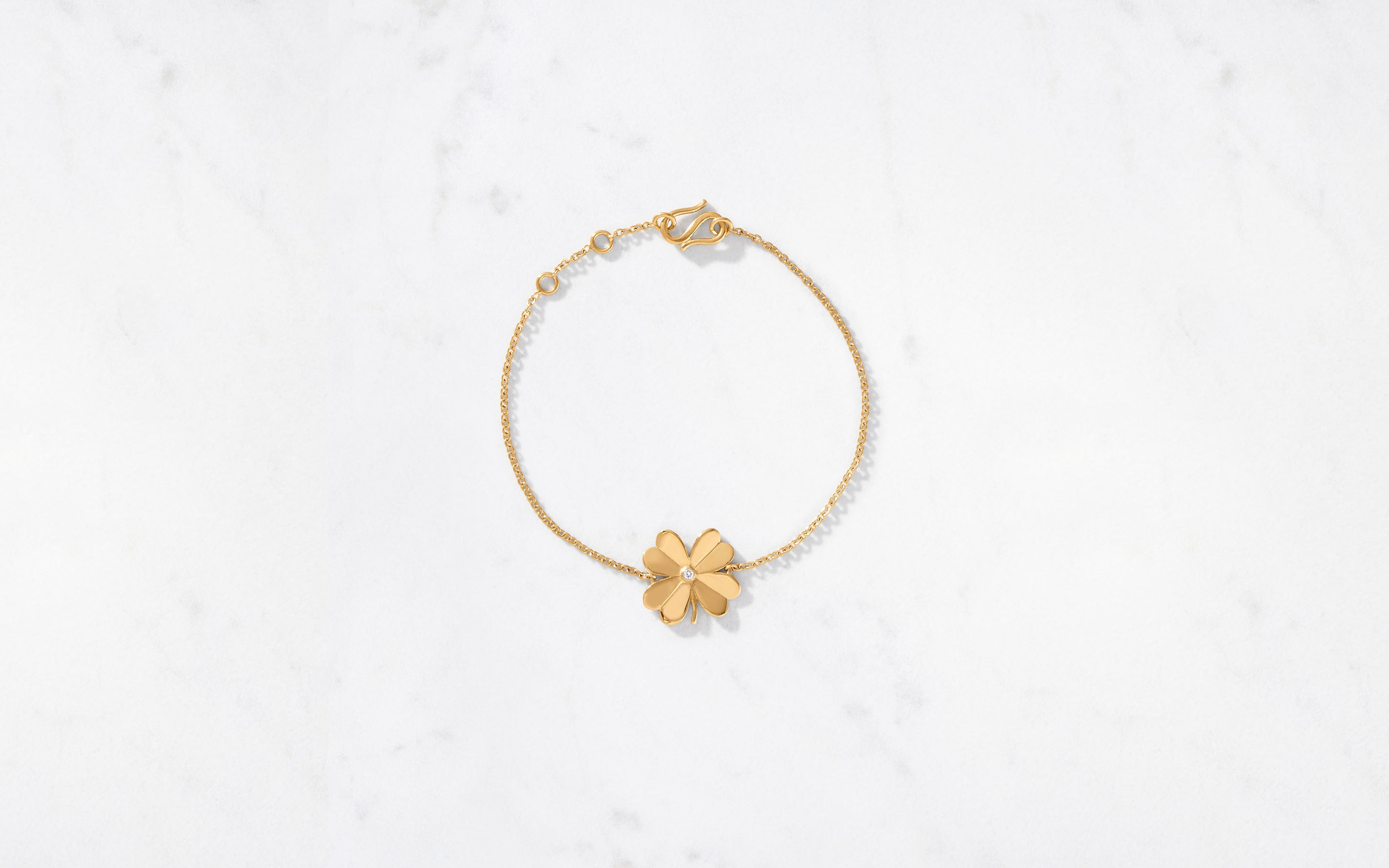 4 Leaf Clover Bracelet Polished