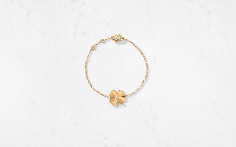 4 Leaf Clover Bracelet Polished