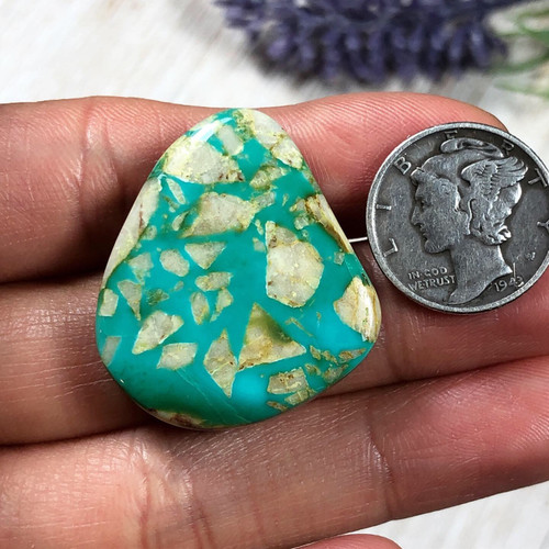 37.6 carats Natural Royston Turquoise Cabochon
