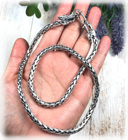 Handmade Heavy Duty Sterling Silver Dragon Chain