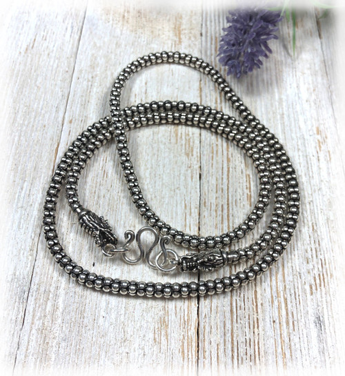 Handmade Sterling Silver Dragon Chain
