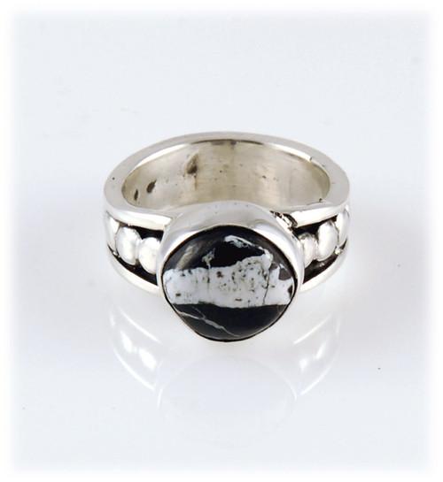 White Buffalo Ribbon Ring