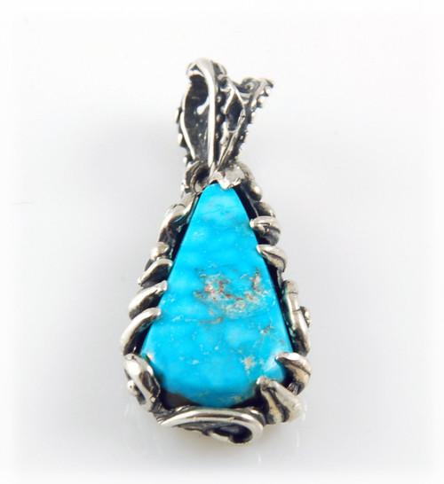 Water Web Kingman Turquoise Pendant