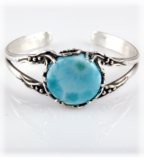 Ladies Larimar Sterling Silver Bracelet