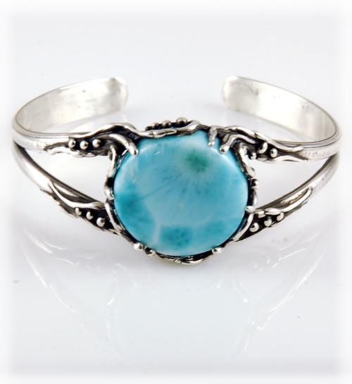 Ladies Larimar Sterling Silver Bracelet