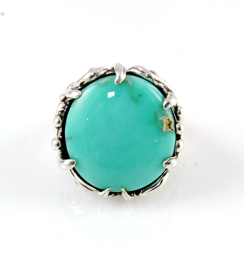 Desert Bloom Variscite Ring Size 8
