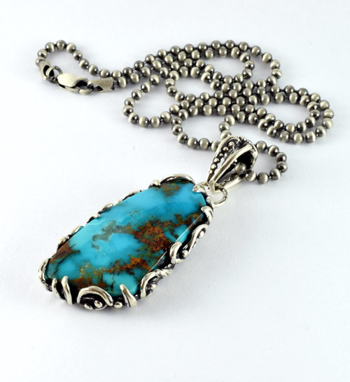 Turquoise Mountain Turquoise pendant necklace