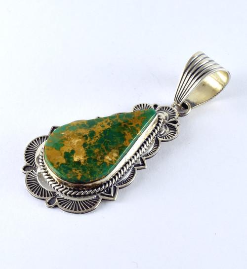 High grade King's Manassa Turquoise Pendant