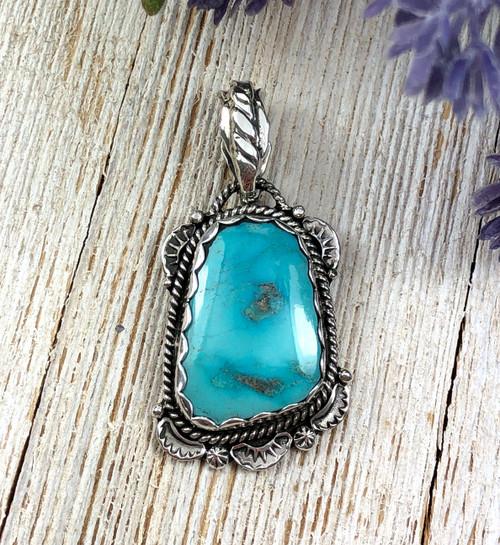 Blue Gem Turquoise Pendant
