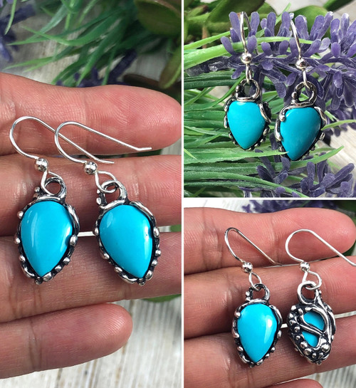 Castle Dome Turquoise drop earrings