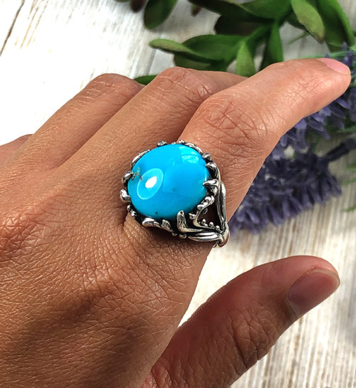 Sterling Silver Kingman Turquoise Ring