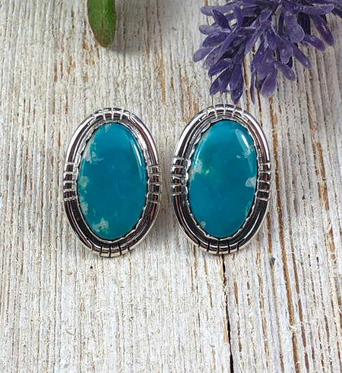 Fox Nevada Turquoise Post Earrings