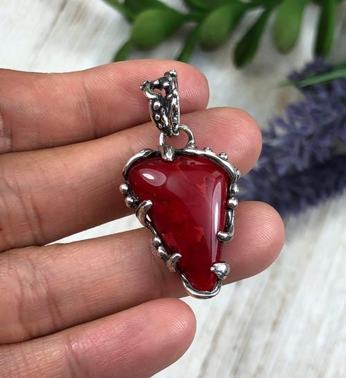 Red Rosarita Pendant