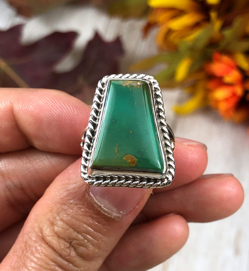 High Grade King's Manassa Turquoise Ring Size 6