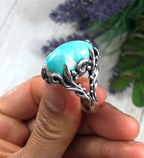 Natural Fox Turquoise Ring for Women