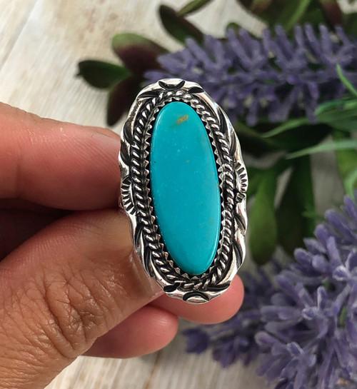 Blue Manassa Turquoise ring