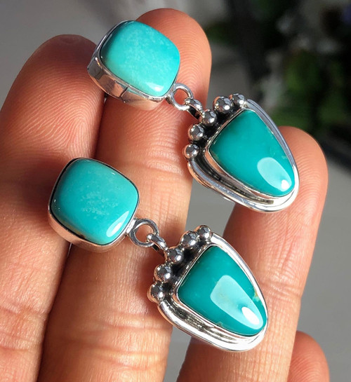 Fox Turquoise Dangle Earrings