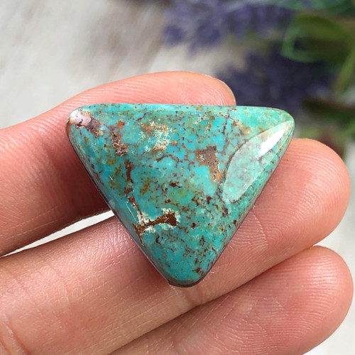 Natural Stormy Mountain Turquoise cabochon