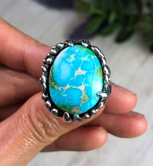 Sonoran Blue Turquoise Ring Size 8.75