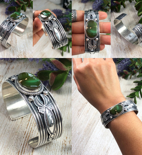 King's Manassa Turquoise Cuff Bracelet