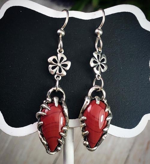 Red Rosarita Drop Earrings