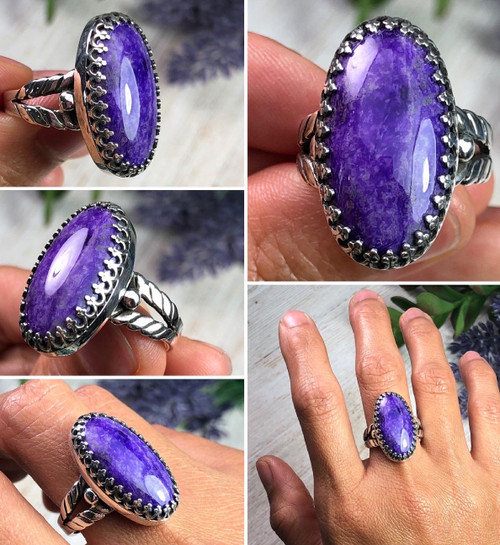 Natural Sugilite Ring Size 8 by Dillon Hartman.