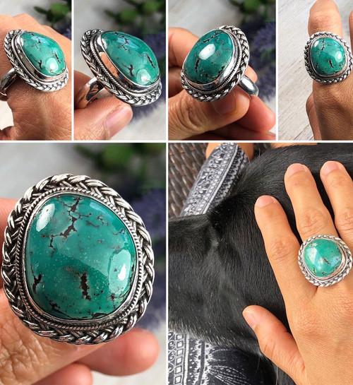 Hubei Turquoise Ring Size 8