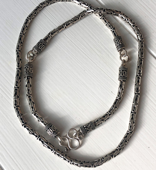 26 Inch Handmade Sterling Silver Chain Necklace