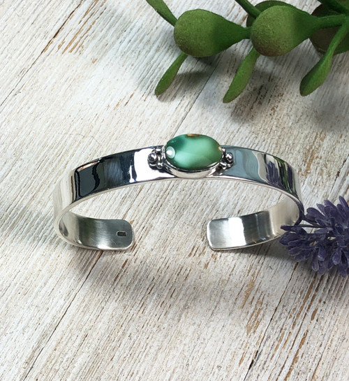Natural Royston Turquoise Cuff Bracelet