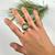 Tortoise Variscite Silver Ring Size 7