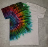 (NEW )    White Rainbow Tie Dye   (short and long sleeve options)