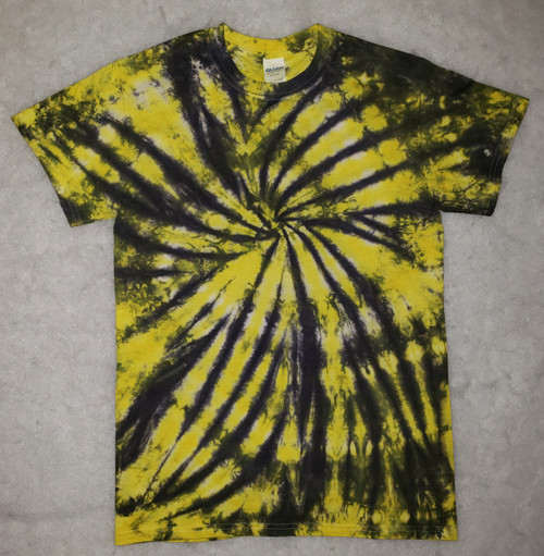 (NEW) Black and Yellow Tie Dye   (short and long sleeve options)