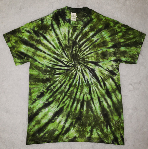 (NEW)  Green and black Tie Dye   (short and long sleeve options)